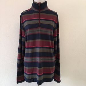 Lululemon Mens 1/2 Zip Striped Long Sleeve Shirt S